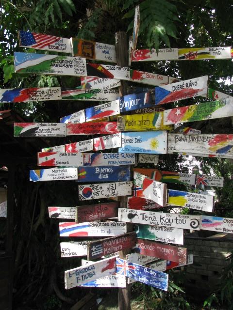 Destinations sign Langkawi Malaysia
