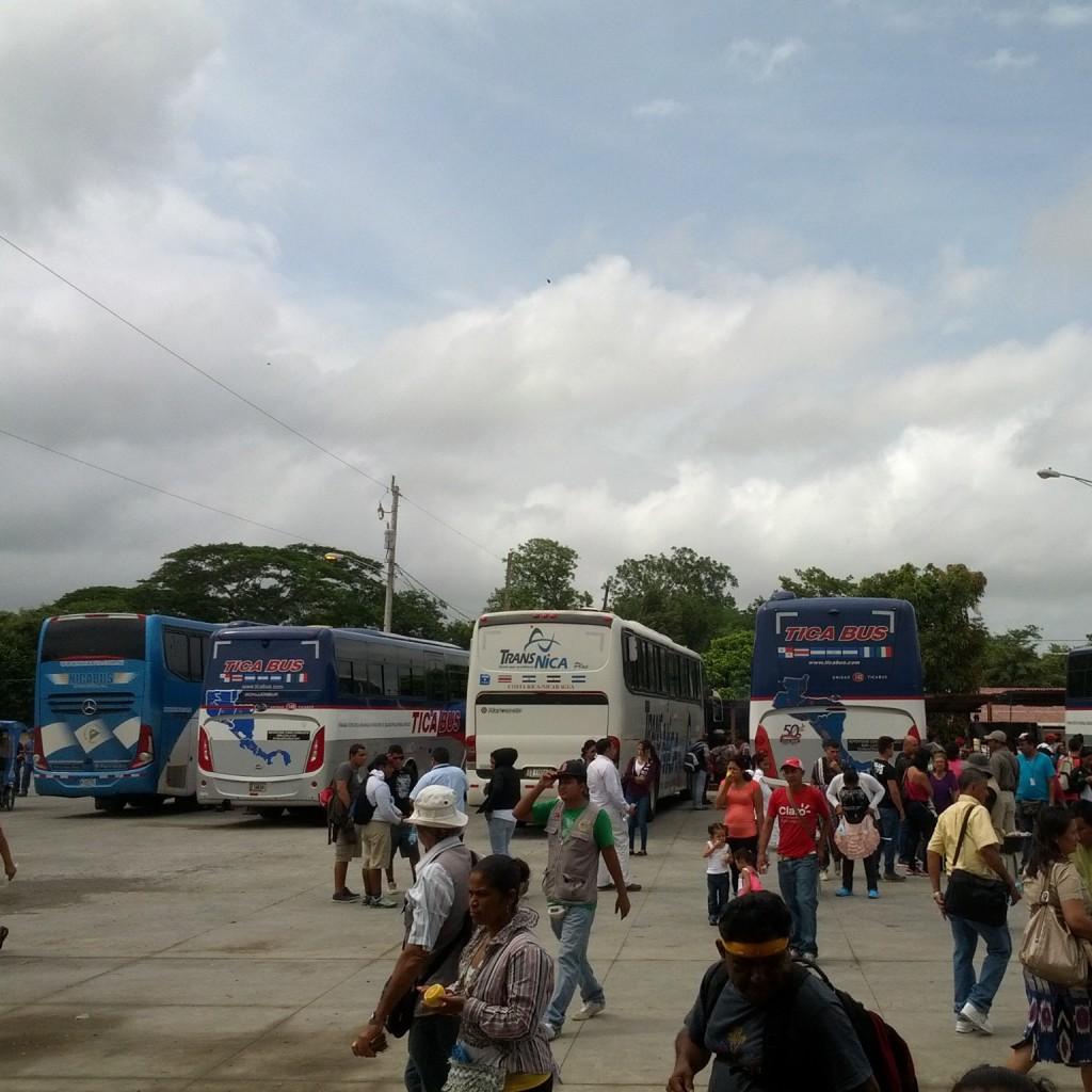 Nicaraguan border with Costa Rica