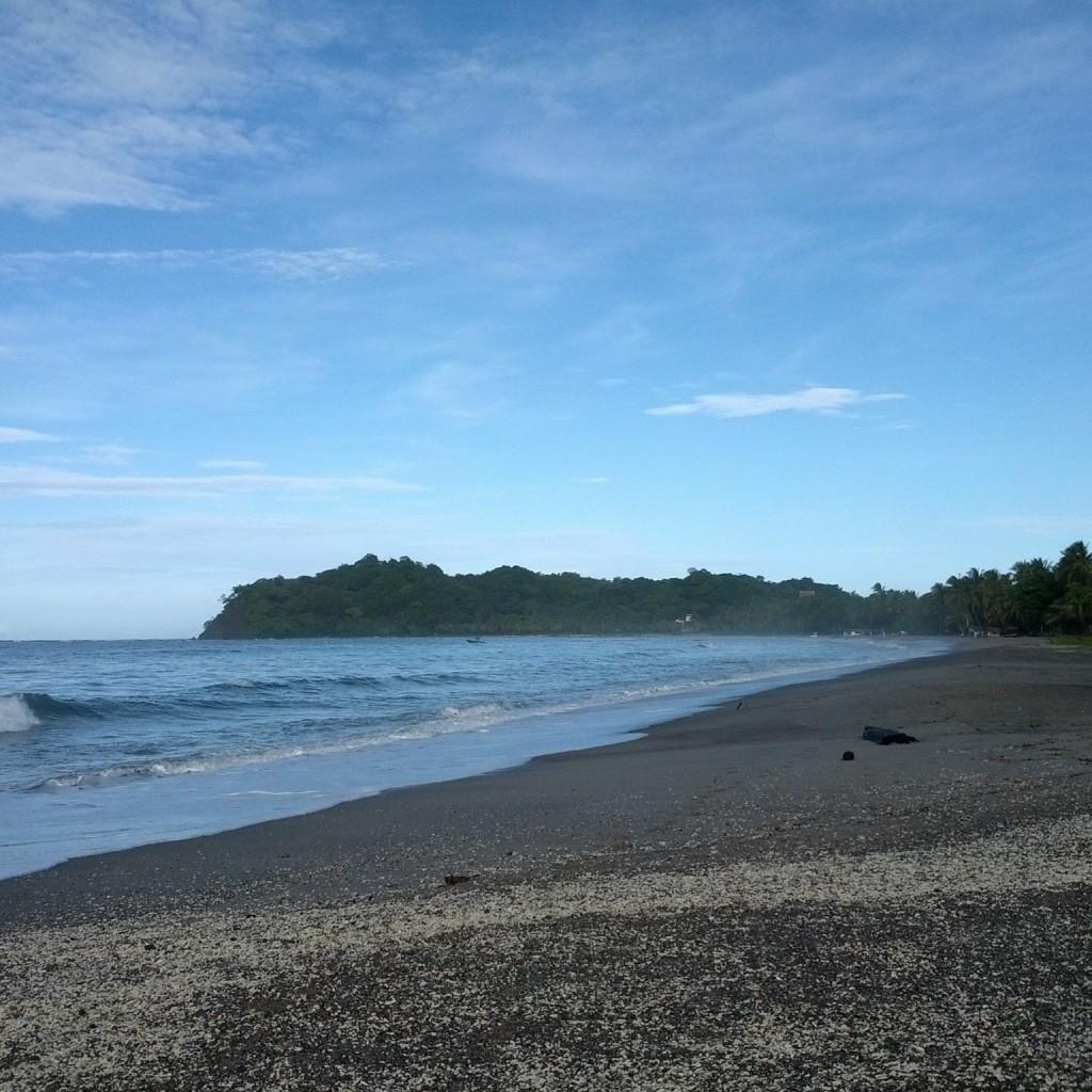 The beach at Playa Sámara, Costa Rica
